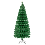 [US Warehouse] 7.5FT Indoor Outdoor Christmas Holiday Decoration Fiber Optic Christmas Tree with 260 Branches & 260 LED Lamps