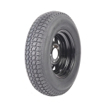 [US Warehouse] 2 PCS ST175-80D-13 5Lug 6PR Spare Replacement Black Rim Steel Ring Rubber Tires
