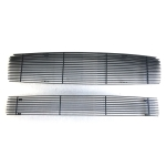 [US Warehouse] 2 PCS Black Powder Coated Main Upper Grille & Lower Bumper Grille for 2009-2014 Nissan Maxima