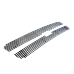 [US Warehouse] 2 PCS Car Aluminum Front Grilles for 2003-2005 Chevrolet Silverado LD