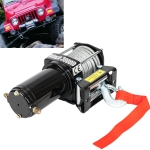 [US Warehouse] Truck SUV 2500LBS LFT Electric Recovery Winch Wireless Remote Control