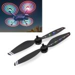 STARTRC 1 Pair Foldable Color LED Flash Lamp 7238 Low Noise Propellers for DJI Mavic Air 2(Black)
