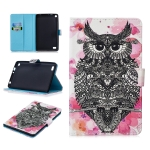 For Amazon Kindle Fire 7(2015/2017/2019) Stitching Horizontal Flip Leather Case with Holder & Card Slots & Sleep / Wake-up Function(Owl)