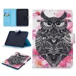 For Amazon Kindle Paperwhite 4 / 3 / 2 / 1 Stitching Horizontal Flip Leather Case with Holder & Card Slots & Sleep / Wake-up Function(Owl)