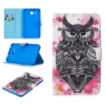 For Samsung Galaxy Tab A7.0 (2016) T280 Stitching Horizontal Flip Leather Case with Holder & Card Slots(Owl)