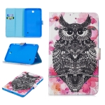For Samsung Galaxy Tab 4 8.0 T330 Stitching Horizontal Flip Leather Case with Holder & Card Slots & Sleep / Wake-up Function(Owl)