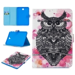 For Samsung Galaxy Tab A 8.0 (2015) T350 Stitching Horizontal Flip Leather Case with Holder & Card Slots & Sleep / Wake-up Function(Owl)