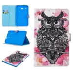 For Samsung Galaxy Tab E 8.0 T375 Stitching Horizontal Flip Leather Case with Holder & Card Slots (Owl)