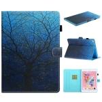 For iPad 10.2 Colored Drawing Stitching Horizontal Flip Leather Case with Holder & Card Slots & Sleep / Wake-up Function(Tree)