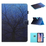 For Huawei MediaPad T5 Colored Drawing Stitching Horizontal Flip Leather Case with Holder & Card Slots & Sleep / Wake-up Function(Tree)