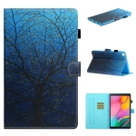 For Samsung Galaxy Tab A8.0 (2019) T290 Colored Drawing Stitching Horizontal Flip Leather Case with Holder & Card Slots & Sleep / Wake-up Function(Tree)