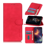 For Sony Xperia 5 II KHAZNEH Retro Texture PU + TPU Horizontal Flip Leather Case with Holder & Card Slots & Wallet(Red)