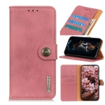 For Sony Xperia 5 II KHAZNEH Cowhide Texture Horizontal Flip Leather Case with Holder & Card Slots & Wallet(Pink)