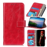 For Sony Xperia 5 II Retro Crazy Horse Texture Horizontal Flip Leather Case with Holder & Card Slots & Photo Frame & Wallet(Red)