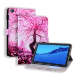 Huawei MediaPad M5 Lite 8 Coloured Drawing Horizontal Flip Leather Case with Holder & Card Slot & Photo Frame(Cherry Tree)