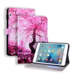 Huawei MediaPad T5 Coloured Drawing Horizontal Flip Leather Case with Holder & Card Slot & Photo Frame(Cherry Tree)