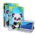 Huawei MediaPad M5 lite / C5 10.1 inch Coloured Drawing Horizontal Flip Leather Case with Holder & Card Slot & Photo Frame & Sleep/Wake-up Function(Panda)