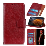 For OPPO Reno4 5G Nappa Texture Horizontal Flip Leather Case with Holder & Card Slots & Wallet(Red)