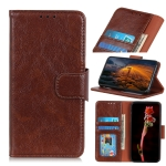 For OPPO Reno4 5G Nappa Texture Horizontal Flip Leather Case with Holder & Card Slots & Wallet(Brown)