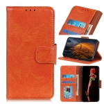 For OPPO Reno4 5G Nappa Texture Horizontal Flip Leather Case with Holder & Card Slots & Wallet(Orange)