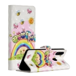 For Samsung Galaxy A20s 3D Painted Pattern Horizontal Flip Leather Case with Holder & Card Slots & Photo Frame & Wallet(Rainbow Cat Family)