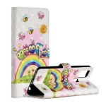 For Samsung Galaxy A21s 3D Painted Pattern Horizontal Flip Leather Case with Holder & Card Slots & Photo Frame & Wallet(Rainbow Cat Family)