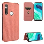For Motorola Moto G Fast Carbon Fiber Texture Magnetic Horizontal Flip TPU + PC + PU Leather Case with Rope & Card Slot(Brown)