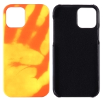 For iPhone 12 Paste Skin + PC Thermal Sensor Discoloration Protective Back Cover Case(Red Yellow)