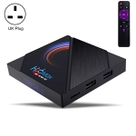 H96 Max 6K Ultra HD Smart TV Box with Remote Controller, Android 10.0, Allwinner H616 Quad Core ARM Cortex-A53, 4GB+64GB, Support TF Card / USBx2 / AV / HDMI / WIFI, UK Plug