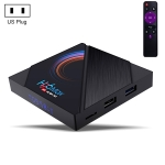 H96 Max 6K Ultra HD Smart TV Box with Remote Controller, Android 10.0, Allwinner H616 Quad Core ARM Cortex-A53, 4GB+64GB, Support TF Card / USBx2 / AV / HDMI / WIFI, US Plug