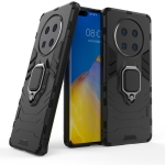 For Huawei Mate 40 Pro Shockproof PC + TPU Protective Case with Magnetic Ring Holder(Black)