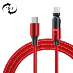FXCTL-WY09 100W 5A USB-C / Type-C to Type-C 180 Degree Rotating Elbow Fast Charging Cable, Length:1.2m(Red)