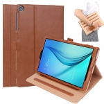 For Samsung Galaxy Tab A 10.1 (2019) T510 / T515 Retro Texture PU Horizontal Flip Leather Case with Holder & Card Slots & Hand Strap(Brown)