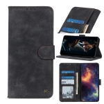For iPhone 12 Antelope Texture Magnetic Buckle Horizontal Flip PU Leather Case with Card Slots & Wallet & Holder(Black)