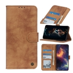 For iPhone 12 Max / 12 Pro Antelope Texture Magnetic Buckle Horizontal Flip PU Leather Case with Card Slots & Wallet & Holder(Brown)