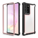 For Samsung Galaxy Note20 Ultra Four-corner Shockproof All-inclusive Transparent Space Protective Case(Rose Gold)