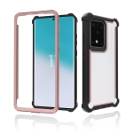 For Samsung Galaxy S20 Ultra Four-corner Shockproof All-inclusive Transparent Space Protective Case(Rose Gold)