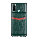 For Xiaomi Redmi Note 8 Flip Card Bag Copper Buckle TPU + PU Leather Back Cover Shockproof Case with Card Slots & Photo Frame(Green)