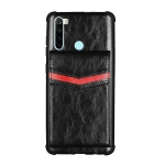 For Xiaomi Redmi Note 8T Flip Card Bag Copper Buckle TPU + PU Leather Back Cover Shockproof Case with Card Slots & Photo Frame(Black)