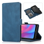 For Xiaomi Redmi 8A Retro Magnetic Closing Clasp Horizontal Flip Leather Case with Holder & Card Slots & Photo Frame & Wallet(Blue)