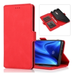 For Xiaomi Redmi K20 Pro Retro Magnetic Closing Clasp Horizontal Flip Leather Case with Holder & Card Slots & Photo Frame & Wallet(Red)