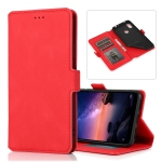 For Xiaomi Redmi Note 6 Retro Magnetic Closing Clasp Horizontal Flip Leather Case with Holder & Card Slots & Photo Frame & Wallet(Red)