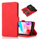 For Xiaomi Redmi 8 Retro Magnetic Closing Clasp Horizontal Flip Leather Case with Holder & Card Slots & Photo Frame & Wallet(Red)