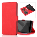 For Xiaomi Redmi Note 4X Retro Magnetic Closing Clasp Horizontal Flip Leather Case with Holder & Card Slots & Photo Frame & Wallet(Red)