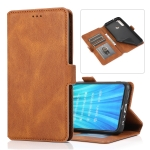 For Xiaomi Redmi Note 8 Retro Magnetic Closing Clasp Horizontal Flip Leather Case with Holder & Card Slots & Photo Frame & Wallet(Brown)