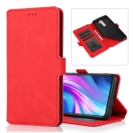 For Xiaomi Redmi Note 8 Pro Retro Magnetic Closing Clasp Horizontal Flip Leather Case with Holder & Card Slots & Photo Frame & Wallet(Red)