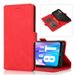 For Xiaomi Redmi Note 8T Retro Magnetic Closing Clasp Horizontal Flip Leather Case with Holder & Card Slots & Photo Frame & Wallet(Red)