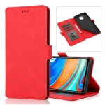 For Xiaomi Redmi Note 9 Pro Retro Magnetic Closing Clasp Horizontal Flip Leather Case with Holder & Card Slots & Photo Frame & Wallet(Red)
