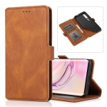 For Xiaomi Mi 10 Pro Retro Magnetic Closing Clasp Horizontal Flip Leather Case with Holder & Card Slots & Photo Frame & Wallet(Brown)