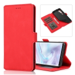 For Xiaomi Mi Note 10 Pro Retro Magnetic Closing Clasp Horizontal Flip Leather Case with Holder & Card Slots & Photo Frame & Wallet(Red)